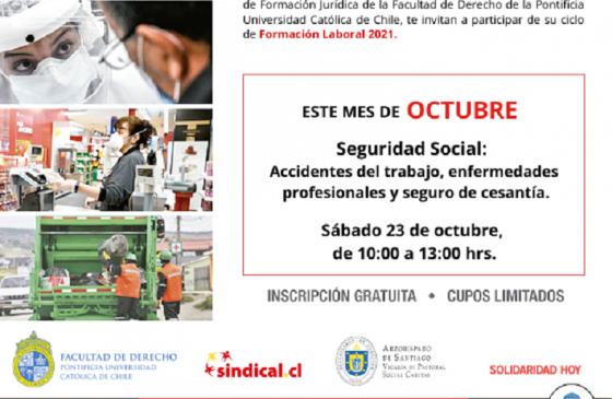 Ciclo de Formación Laboral: Seguridad Social. Accidentes del Trabajo, Enfermedades Profesionales y Seguro de Cesantía